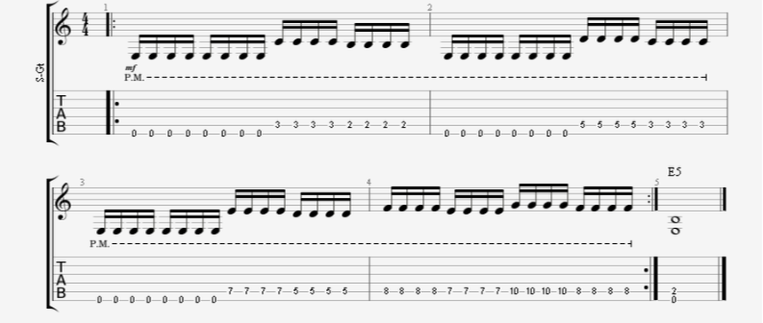 16th Note Palm-Mute Speed Picking Guitar Exercise