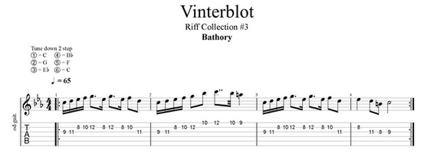 bathory vinterblot guitar riff
