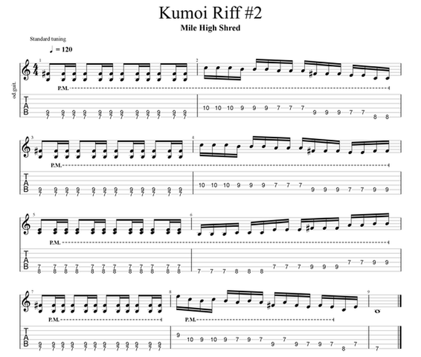 Kumoi Guitar Riff Japanese Scale