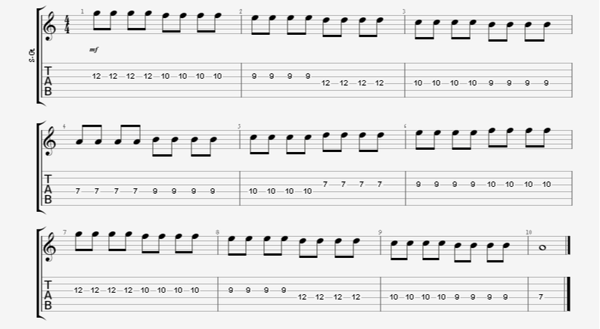 Speed/Tremolo/Alternate Picking Guitar Exercise