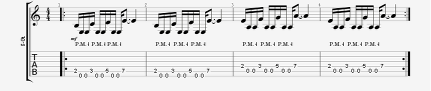 16th Note Palm-Mute Pattern Introduction - Groupings of 3