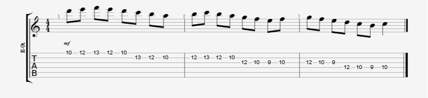 guitar alternate pick speed exercise scale run