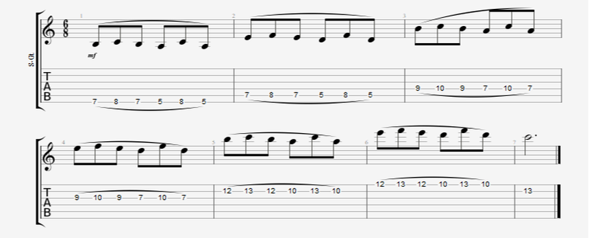 legato guitar exercise