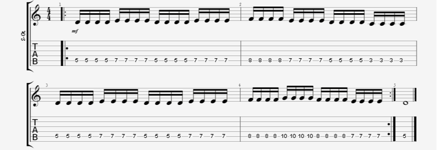 tremolo speed picking guitar exercise