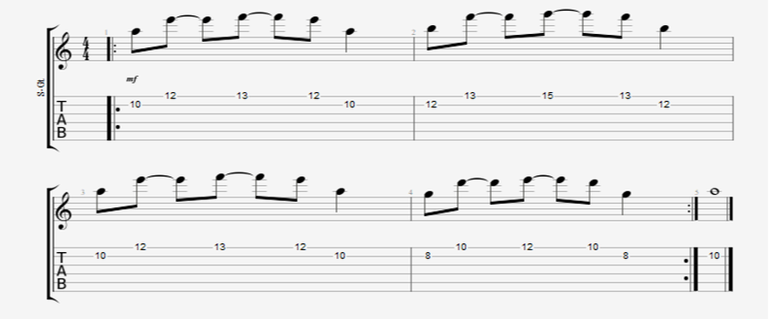 guitar 8th note picking pattern
