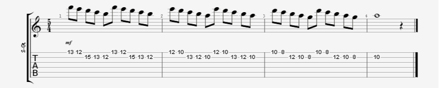 5 Note Grouping Continuous Alternate Picking Guitar Exercise