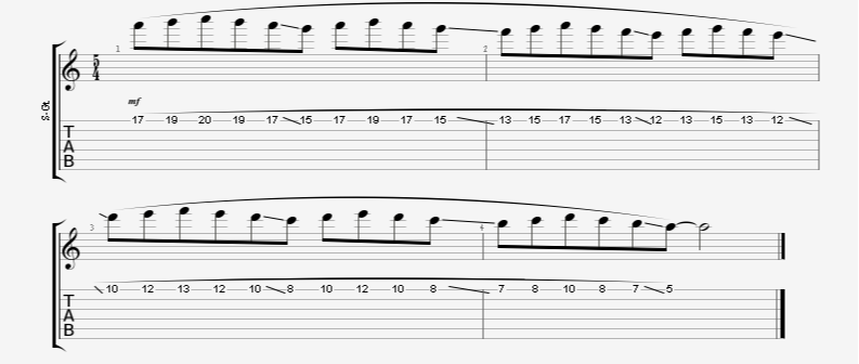 Long Descending Legato Guitar Exercise - Great Technique Builder
