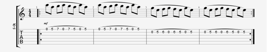 Legato Guitar Exercise with Pinky Attention
